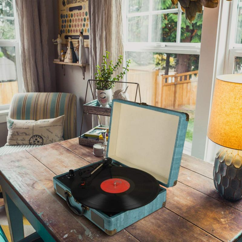 Record Player Vintage Bluetooth Stereo