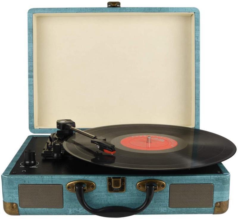 Record Bluetooth Vinyl Turntable Stereo