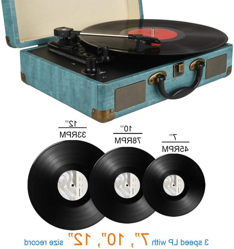 Record Player Bluetooth Vinyl Turntable Stereo Speaker, Bel