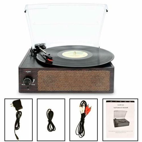 Record Player Vinyl Player Bluetooth Turntable LP Belt-Drive