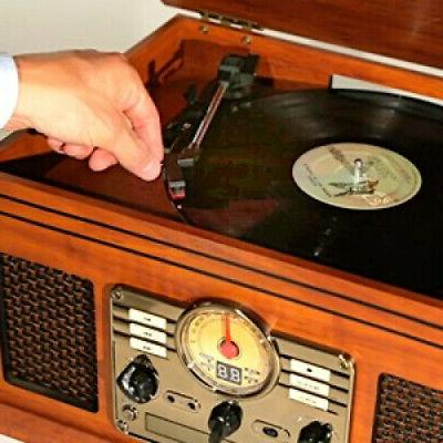 Record Player 6-in-1 CD Radio