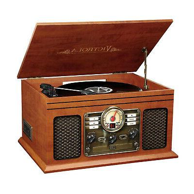 record player w speakers 6 in 1