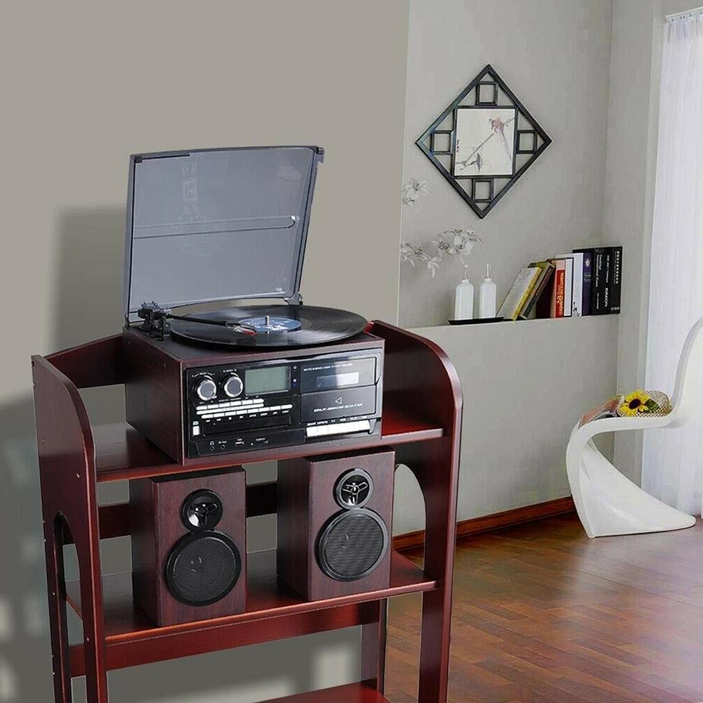 Stereo Record Player Speakers Bluetooth Remote