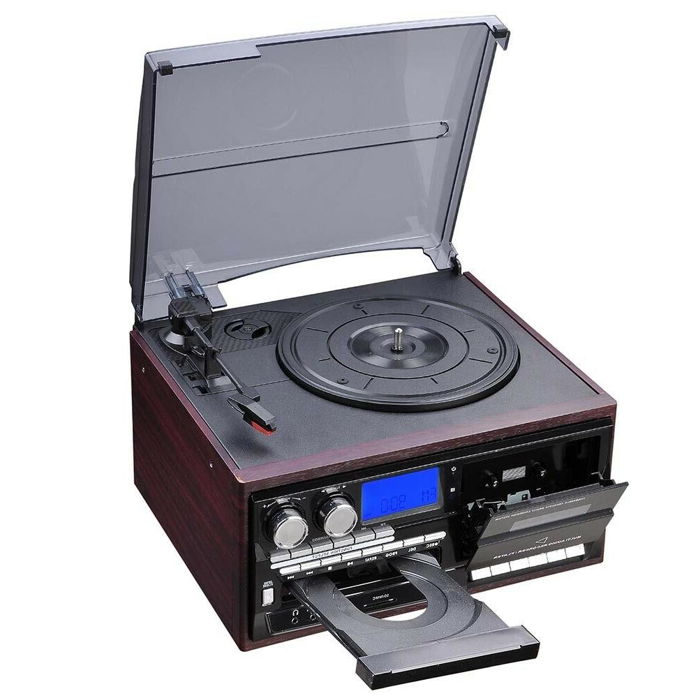 Stereo Turntable Player with Speakers Bluetooth