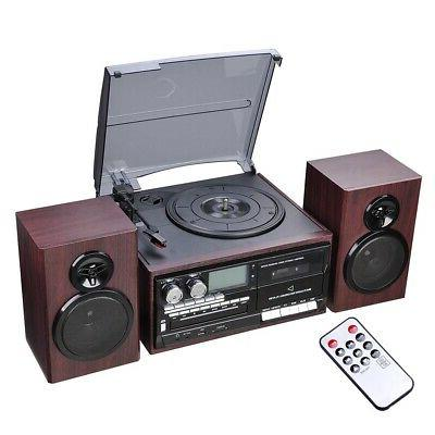 Wireless Stereo Record Player System Vintage Turntable 3-Spe