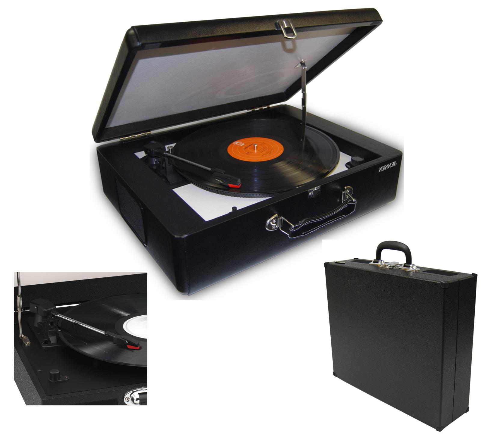 suitcase record player with speakers 3 speed