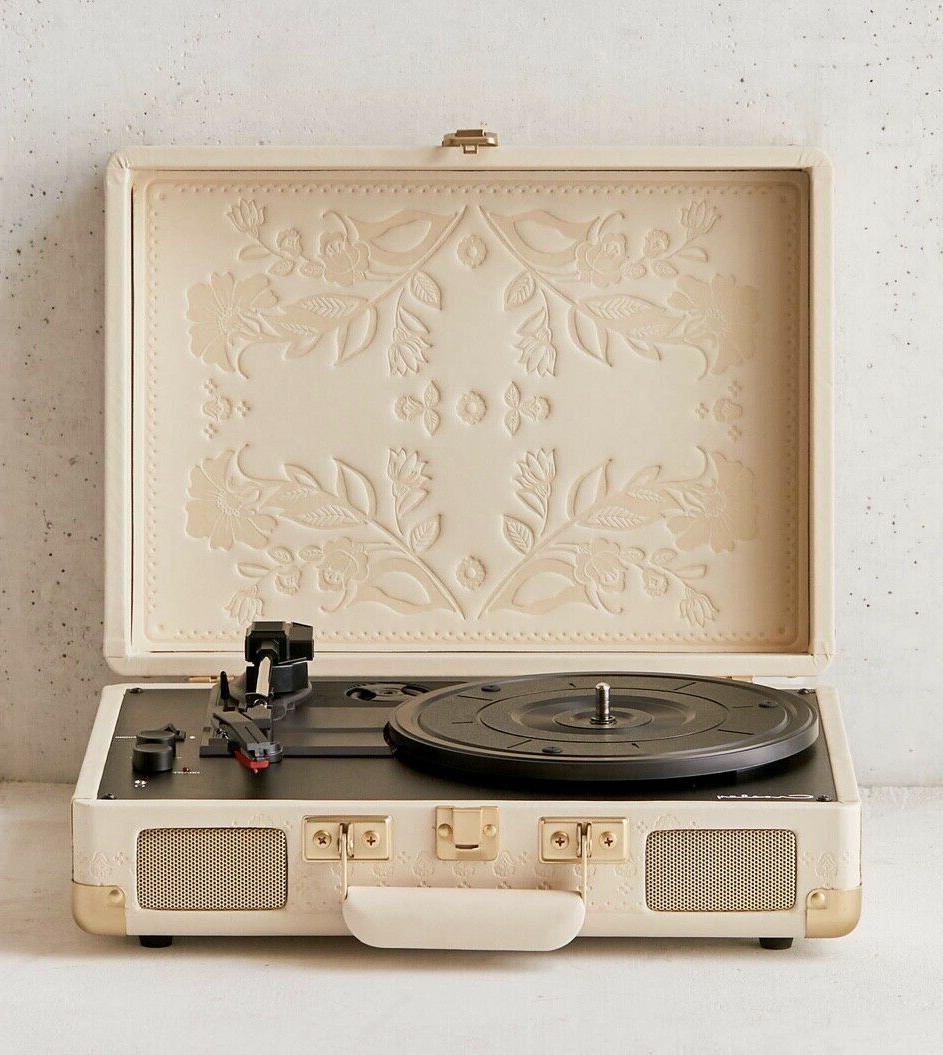 urban outfitters record player bluetooth tan folklore