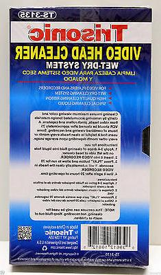 VCR VHS Head Cleaner Wet And Dry For Player VA-92 New
