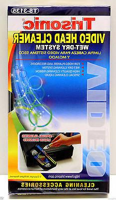 VCR VHS Video Head Cleaner Wet And Dry For Video Recorder An