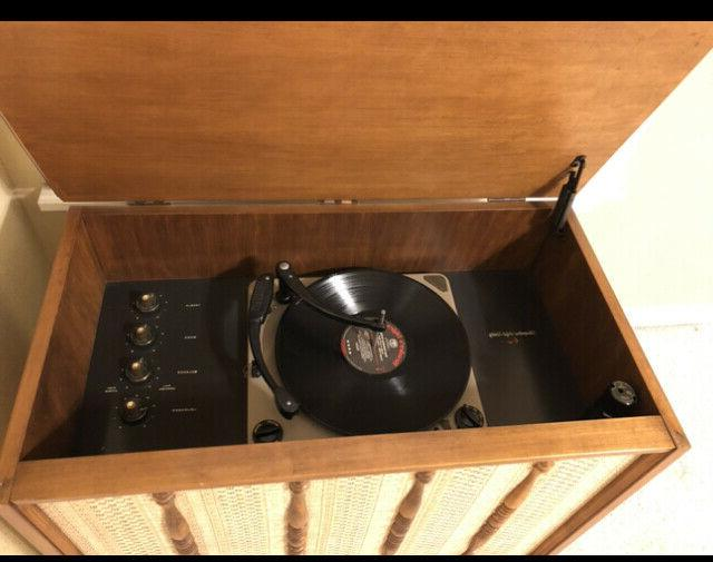 VINTAGE 1950s CABINET RECORD PLAYER HI-FI