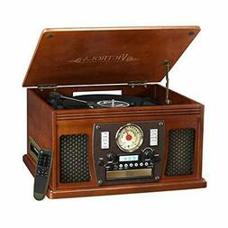 Victrola Navigator 8-in-1 Classic Bluetooth Record Player wi