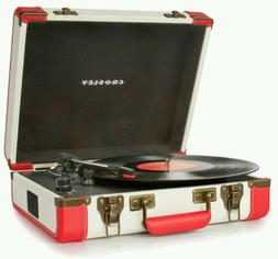 New 2 color Red Cream Crosley Executive USB vinyl Turntable