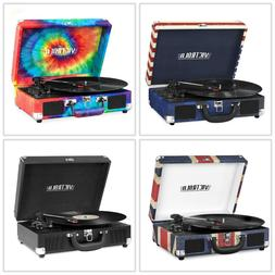 NEW Bluetooth Portable Suitcase Record Player w/ 3-speed Tur