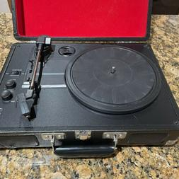 NEW Crosley Cruiser Deluxe Stereo Turntable red  Black CR800