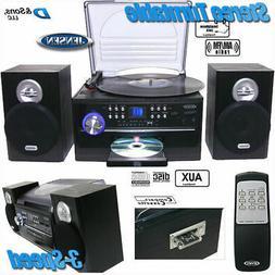 NEW Jensen AM/FM Radio 3-Speed Turntable/CD/Cassette/Record
