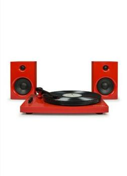 New Retro red Crosley T100 Turntable system 2 speed record p