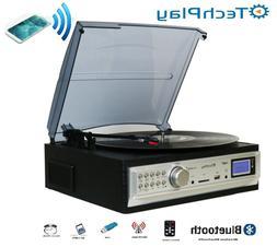 TechPlay ODC19 BT, 3-Speed Turntable with Bluetooth W/SD USB