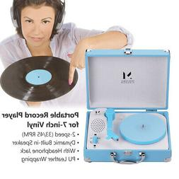 Portable Record Player for 7-inch Vinyl Turntable Suitcase P
