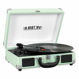 Victrola Portable Suitcase Record Player Turntable With Blue