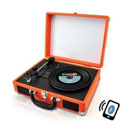 PYLE PVTTBT6OR Bluetooth Classic Vintage Style Vinyl Player