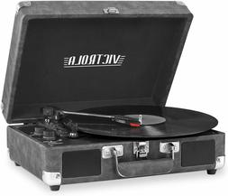 Record Player Bluetooth Portable Suitcase with 3-speed Turnt
