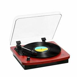 Record Player, Musitrend /Jorlai 3-Speed Belt-Drive Turntabl