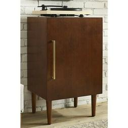 Record Player Stand in Mahogany Finish
