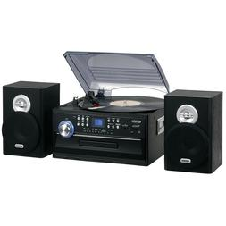 Record Player Turntable 3-Speed with CD Cassette and AM/FM S