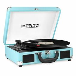Record Player Victrola Bluetooth Portable Suitcase w 3-speed