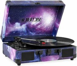 record player vintage 3 speed bluetooth suitcase