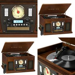 Record Player With Speakers Expresso 6 in 1 Bluetooth Radio