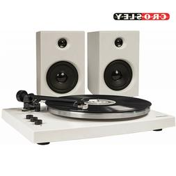 Crosley T150A-WH T150 2 Speed Bluetooth Record Player Turnta