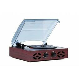 TechPlay ODC15 Retro Record Player Turntable 3 Speed Classic