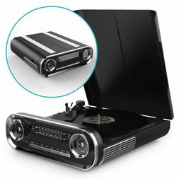 Turntable for Vinyl Records, Bluetooth Record Player with Sp