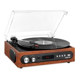 Vinyl Lover's All-in-1 Bluetooth Record Player with Built in