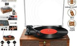 Vinyl Record Player Bluetooth Turntable with Built-in Speake