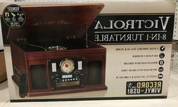 Victrola VTA-600B MH 8-in-1 Bluetooth TurnTable - Mahogany