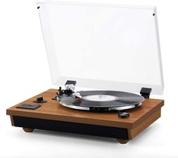 Rcm Wireless 3-Speed Turntable With Stereo Speakers Natural