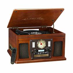 Victrola Wood 8-in-1 Nostalgic Bluetooth Record Player with