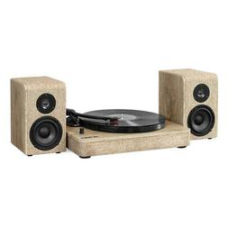 Victrola Wood and Linen Fabric Bluetooth Record Player with